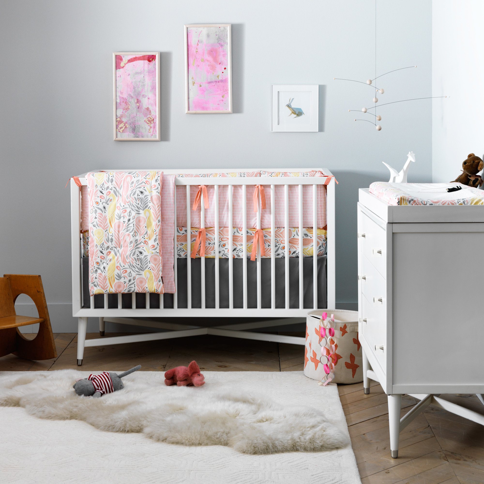 New Zealand Pinewood baby crib